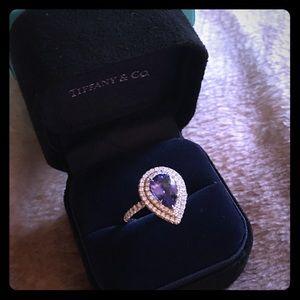 Tiffany & Co Soleste Tanzanite Diamond Platinum